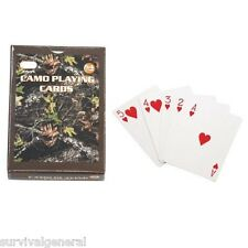 New Playing Cards Deck Camo Camouflage Real Tree 54 Hunting Camping Survival