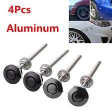 4Pcs 25mm Quick Release Latch Fastener Hood Push Button Billet Pins Lock+Screw