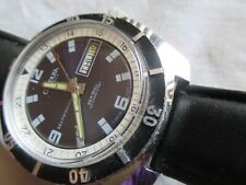 VINTAGE CORDURA SEA-GULL  17 JEWELS DIVER WATCH DAY&DATE AUTOMATIC,SWISS 1960'S