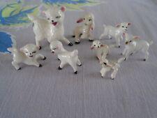 Vintage Miniature Sheep Lambs Porcelain Figurines