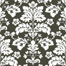 Wallpaper Black and White Modern Damask