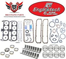 ENGINETECH CHRYSLER DODGE 440 RE RING REBUILD KIT WITH MAIN BEARINGS 1966 - 1974