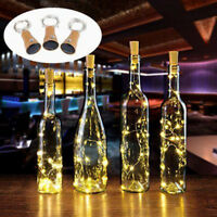 10/15/20 LED Solar Glass Bottle Stopper Copper Wire String Lights Fairy Light