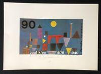 Almir Mavignier, Rote Brücke, nach Paul Klee, Farboffsetdruck, 1979, signiert