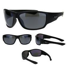Xloop Mens Oversize Classic 90s Warp Biker Style Sport Plastic Sunglasses