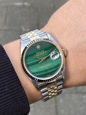 Rolex Datejust 36 Gold/Stahl Malachite Dial Ref.16233 Box+Paper