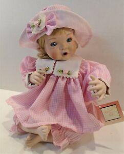 "Ashton Drake Precious in Pink by Jan Goodyear Porcelain Doll 10"" high"