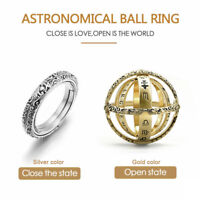 Trendy Astronomical Ball Ring Armillary Sphere Ring Jewelry Couple Lover Ring