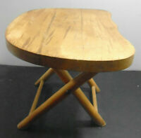 VINTAGE NEVCO FOLD 'N CARRY WOODEN STOOL 9""