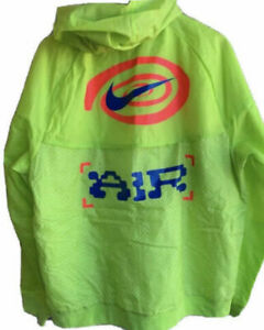 Nike command force colors jacket Catching Air Windrunner Neon Blue CW4708-389