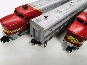American Flyer Double Motor Santa Fe Silver ABA Diesel Set #470, 471,473 1953-58
