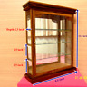 Wall Cabinet Wood Glass Teak Curio Handmade Carved Shadow Box Display Square Toy