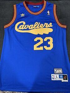 Retro 08 09 LeBron James #23 Cleveland Cavaliers Basketball Trikots Navy Blau