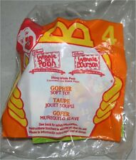 Winnie The Pooh #4 Gopher Clip-On Beanbag McDonald'S Happy Meal Toy 1999 New