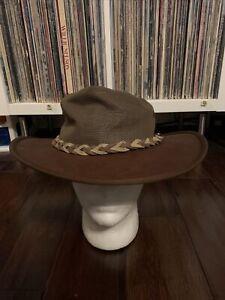Barmah Kangaroo Leather Squashy Hat