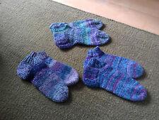 Handgestrickte Wollsocken, Wolle, Sneakersocken, 1 Paar, passend für Größe 38-40