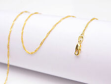 "1PCS Wholesale 28"" Jewelry 18K Gold Filled ""Water Wave"" Chain Necklace Pendants"