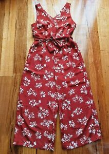 Target - Womens Floral Tie Jumpsuit in Red - Size 10 RRP $49