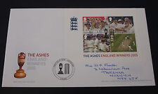 First Day Cover England's Ashes Victory Miniature Sheet 6th Oct 2005