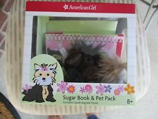 American Girl Sugar Book & Pet Pack: 1 Plush Dog & 1 Book Excellent