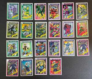 1990 Marvel Universe Series 1 (Impel) BASE 22 Card Lot SUPER Villains Favorites!