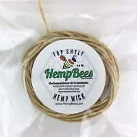 $2.25 Organic Hemp Wick Line 10 ft  BEST DEAL // FAST SHIPPING! HB hempwick