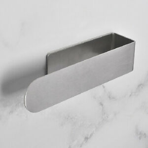 Bathroom Toilet Hand Towel Rail Chrome Holders Stainless Steel Self Adhesive UK
