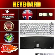 Keyboard for SONY VAIO VPC-EB3GGX/BJ VPC-EB3NFX UK English White with Frame