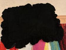 Vintage Ralph Lauren Standard Size Cotton Ruffled Pillow Sham Solid Black