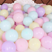 100Pcs 10 Inch Macaron Latex Balloons Baby Shower Birthday Wedding Party Decor