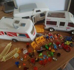 Playmobil lot divers à compléter camping car caravane van personnages pièces