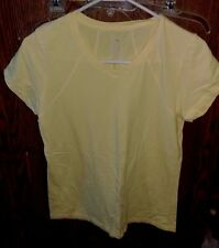 Women's Danskin T-Shirt. Yellow Lilly Bright Solid Shirt Size Large (12/14)