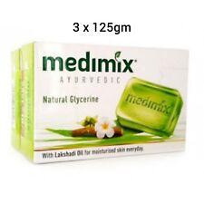 Medimix Ayurvedic Natural Glycerine Soap Herbal Bathing Bar 125gm (Pack of 3)