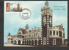 New Zealand 1982 FDC maximum card railway Station Dunedin architecture