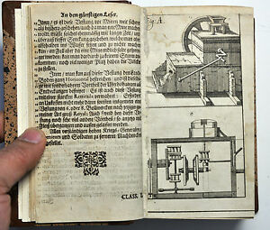 ANTIQUE ILLUSTRATED MILITARY WAR SCHOOL TECHNIQUE SCIENCE ENGRAVED BOCKLER 1668