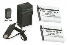 2 Batteries + Charger for Olympus STYLUS MJU Tough TG-610 6000 6010 6020 8000