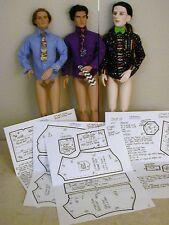 "Tailored Shirt & Tie Pattern 17MR05 For 17"" Tonner Matt/Rufus/Simon/Phin  Dolls"