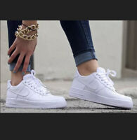 """Brand New Womens Nike Air Force 1 Low 07 """"Triple White"""" DS Size 9 W"""