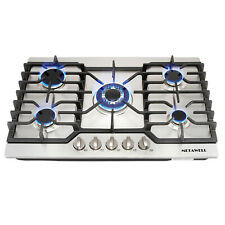 """30"""" Stain 00000495 less Steel 5 Burner Built-in Stoves Gas Cooktops Silver for Kitchen"""