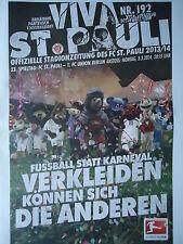 Programm 2013/14 FC St. Pauli - Union Berlin