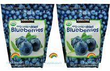 2 Packs Kirkland Signature Organic Whole Dried Blueberries 1 LB 4 OZ Each Pack