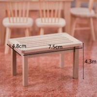 Tea Table Model Toys 1/12 Wooden Miniature Blank Tea Table Furniture Model YK