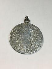 Monnaie Autriche 1 thaler Marie Thérèse 1780 ARGENT Monté en Pendentif