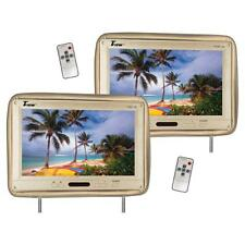 "Tview 12.1"" Headrest Monitor IR Transmitter Remotes Tan Pair"