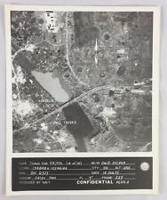 Vintage Vietnam War Navy Aerial Recon Photo 103 Thanh Hoa Railroad POL Tanks