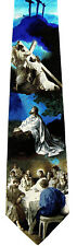 The Crucifixion Mens Necktie Religious Christian Jesus Easter Blue Tie New