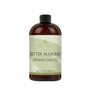 Bitter almond oil 100% pure unrefined raw non-gmo cyanide-free carrier 8 oz skin