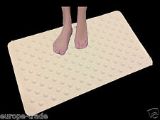 High Quality White Rubber Large Strong Suction Anti Non Slip Bath & Shower Mat