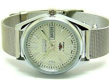 citizen automatic mens steel white dial vintage japan made watch run order