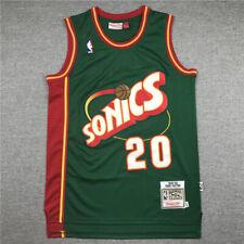 Retro Gary Payton #20 Seattle SuperSonics Camiseta Jersey Baloncesto Cosido #D